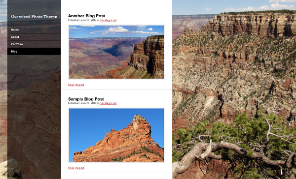 oversized Free WordPress Themes Released in Summer 2012
