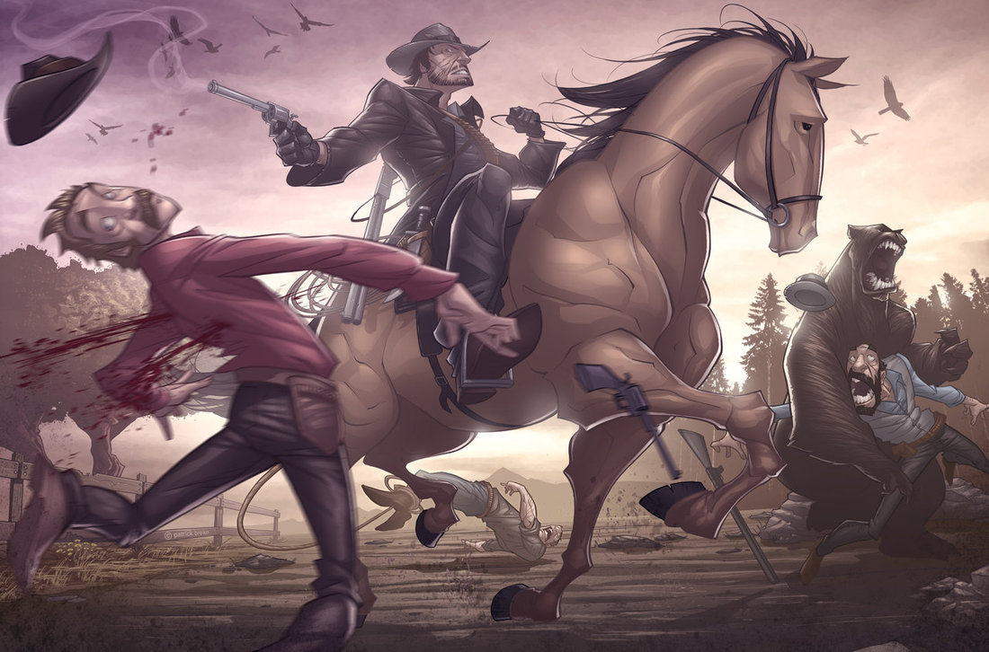 red dead redemption v2 by patrickbrown1 25 Outstanding Digital Illustrations by Patrick Brown