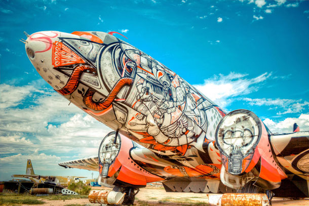 retired airplanes transformed into epic works of art 1 The Boneyard Project: Retired Airplanes turned into Art