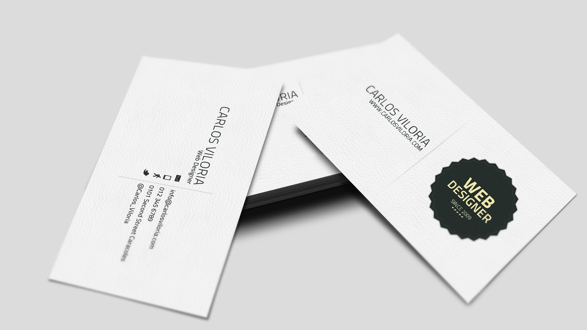 retro business card 02 preview www carlosviloria com 1 20 Free Business Card Templates