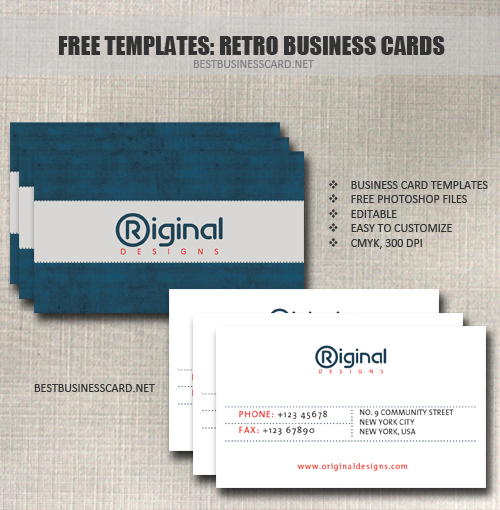 retro business card 31 20 Free Business Card Templates