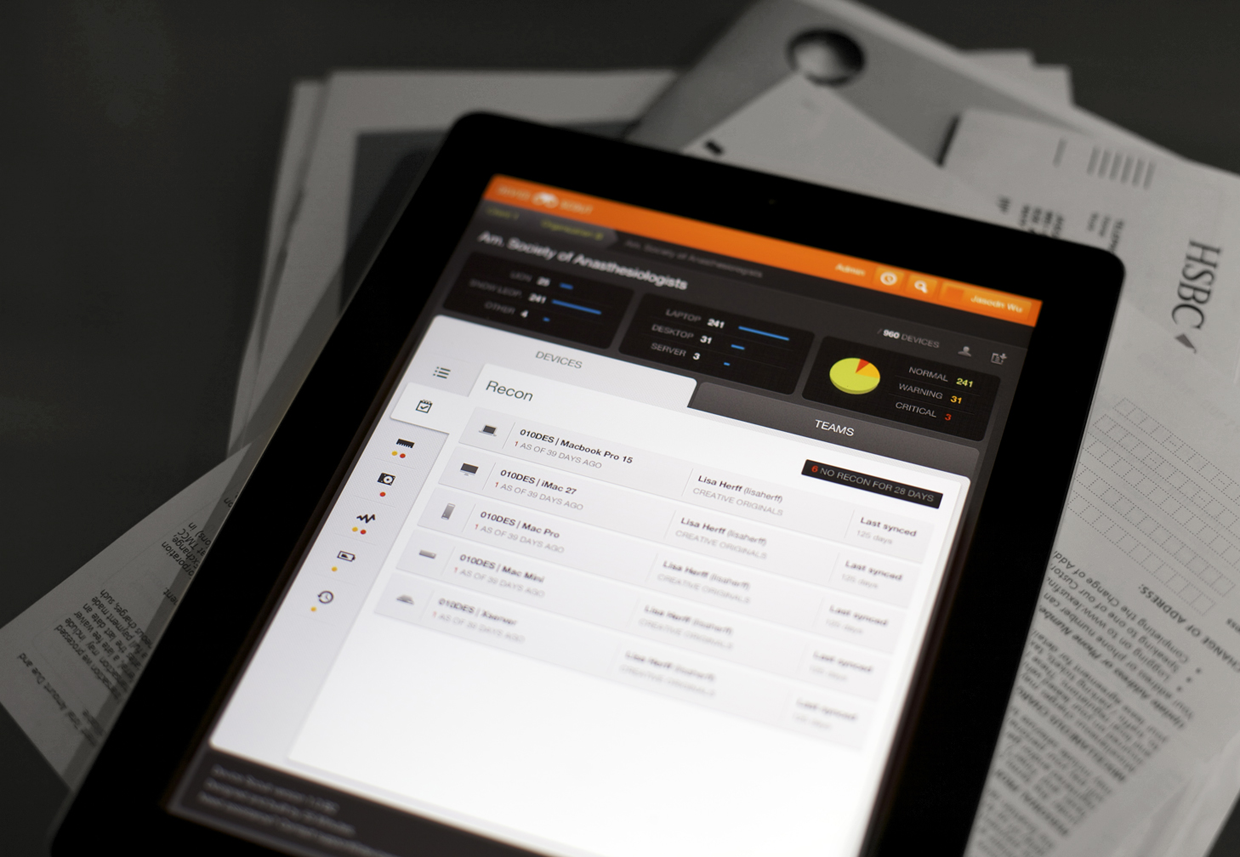 Device Dashboard - iPad