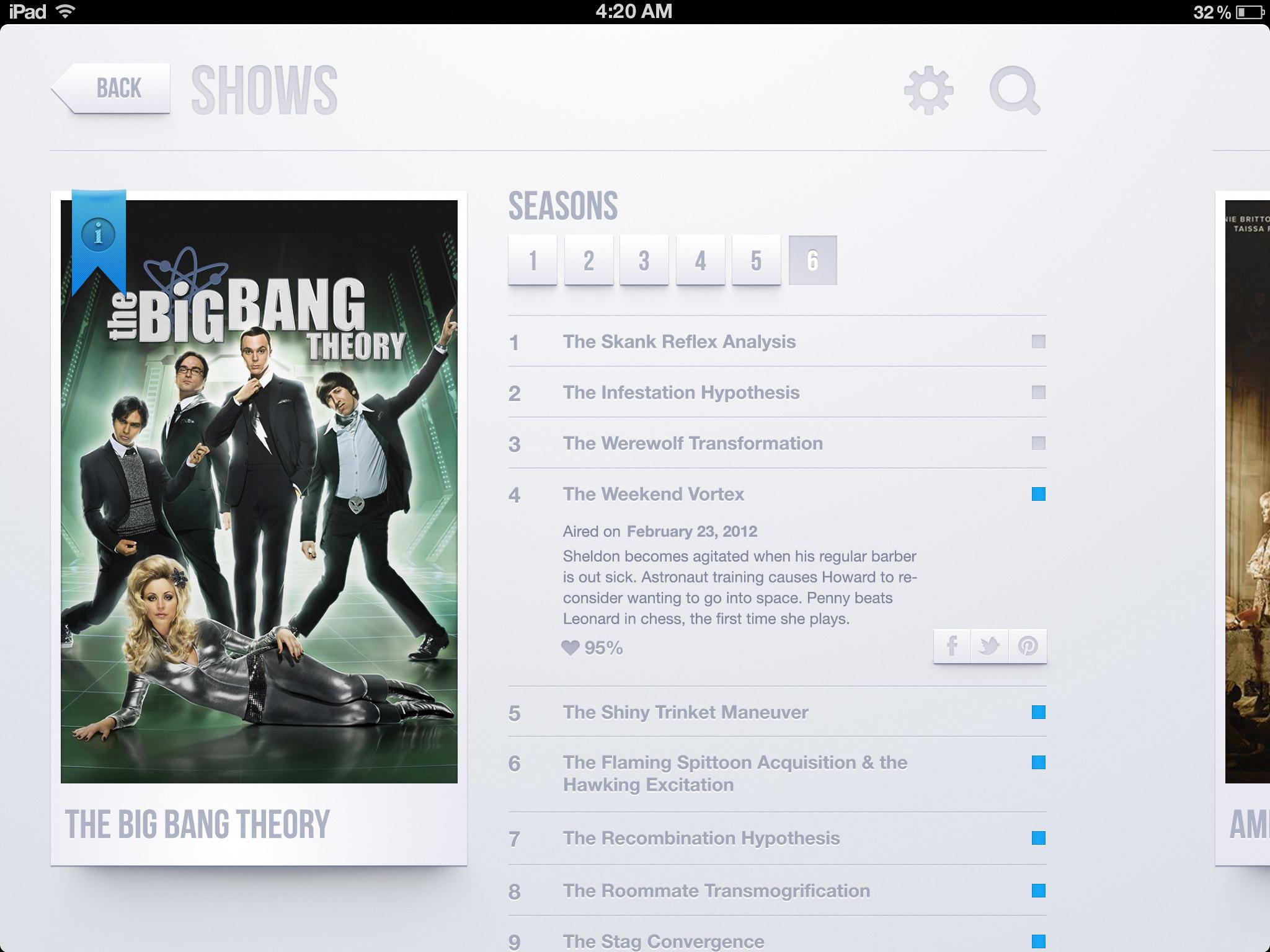 Tv Shows app