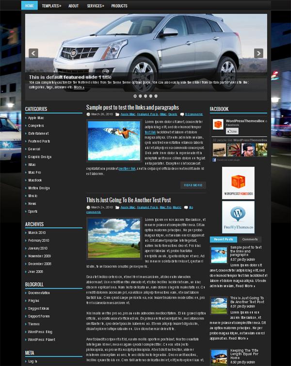 suvtown Free WordPress Themes Released in Summer 2012