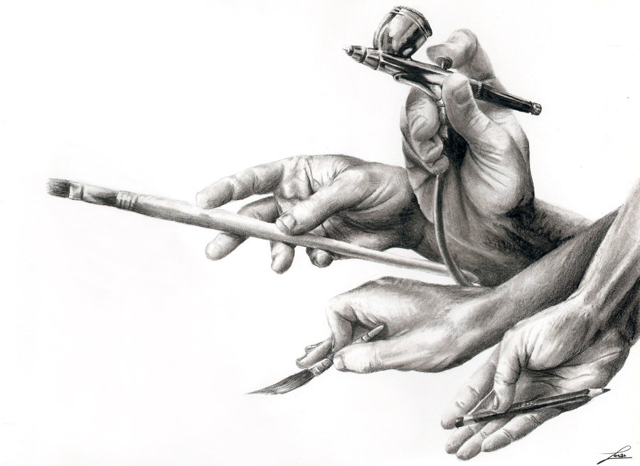 tools of choise by urm1 35 Mindblowing Realistic Pencil Drawings