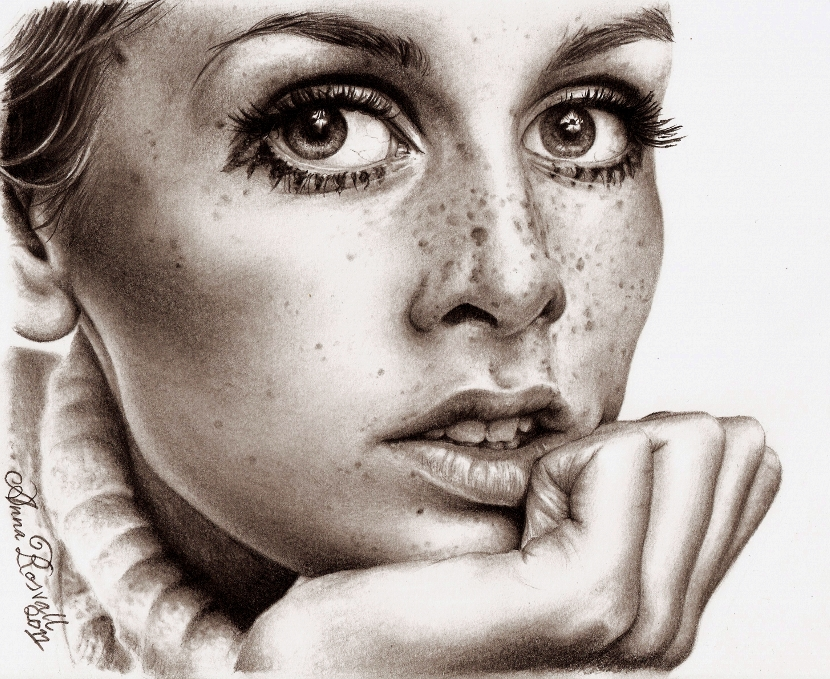 twiggy by darthhoney d388er01 35 Mindblowing Realistic Pencil Drawings