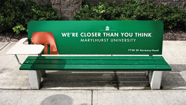 university1 20 Creative Examples of Bench Advertising