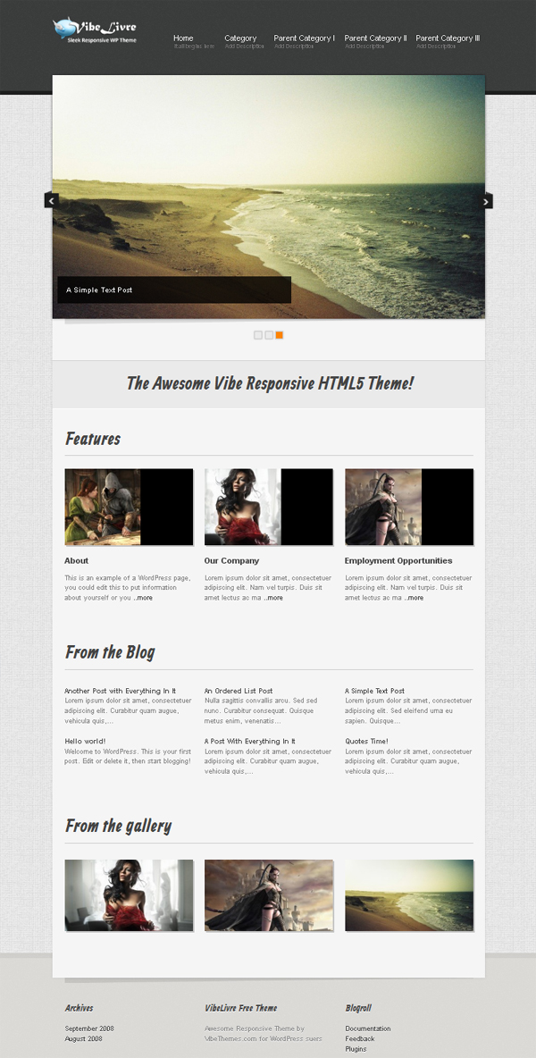 vibelivre Free WordPress Themes Released in Summer 2012