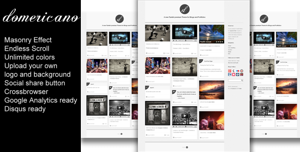 01 domericano preview   large preview1 55 Elegant and Customizable Tumblr Themes