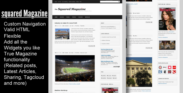 01 squaredmag preview   large preview1 55 Elegant and Customizable Tumblr Themes