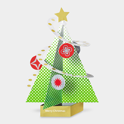 93859 a2 festive holiday tree1 35 Outstanding Pop Up Holiday Cards