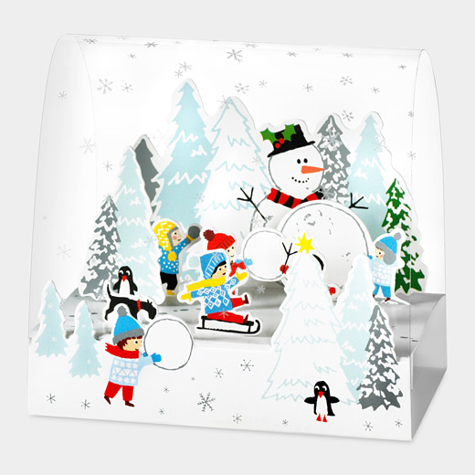 93876 a2 snow days1 35 Outstanding Pop Up Holiday Cards