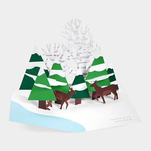 93885 a2 pop up forest scene sabuda card1 35 Outstanding Pop Up Holiday Cards