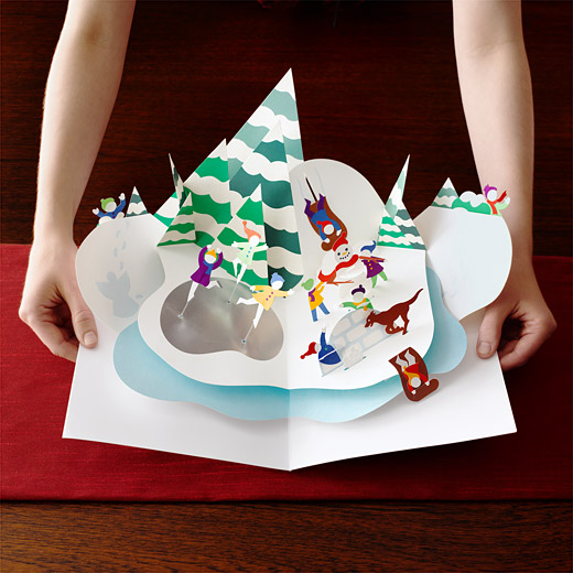 93888 d2 10 year anniversary commemorative pop up1 35 Outstanding Pop Up Holiday Cards