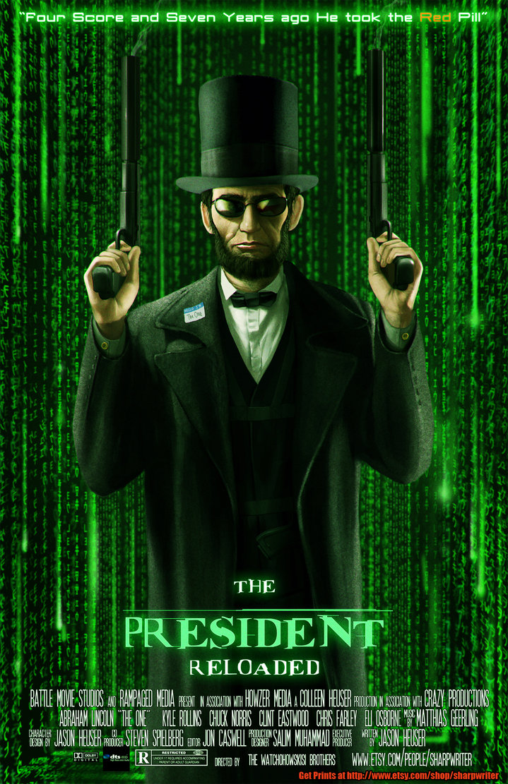 abe lincoln reloaded by sharpwriter d4h9mja1 Creative Political Illustrations by Jason Heuser