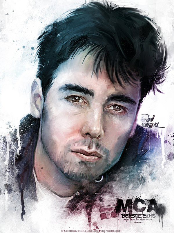 art tribute mca adam yauch beastie boys Pop Art Paintings by Vlad Rodriguez