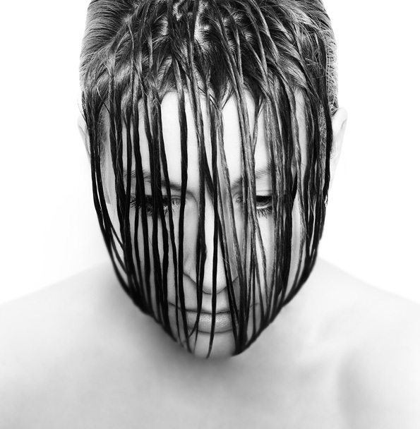 B&W Selfportraits by Nadia Wicker