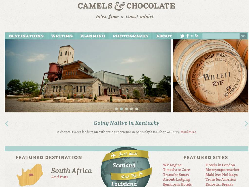camels and chocolate The Most Innovative Travel Sites