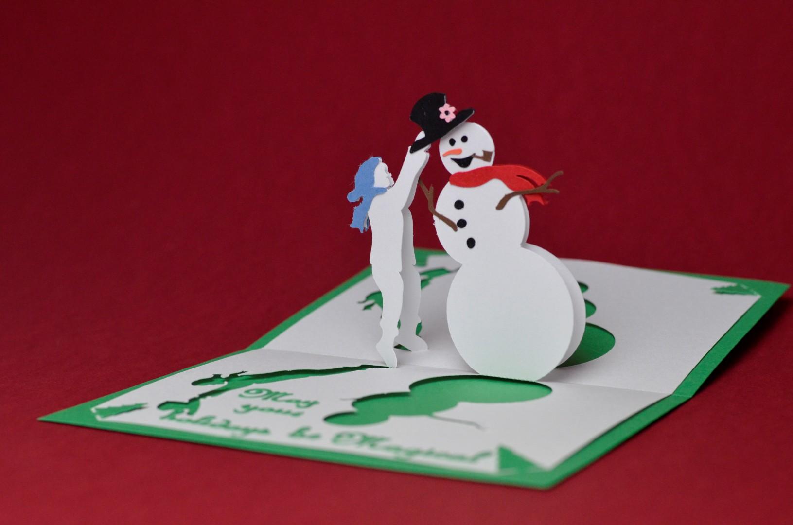 Magical Snowman Pop Up Card