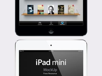 iPad Mini Psd Vector Mockup by Pixeden