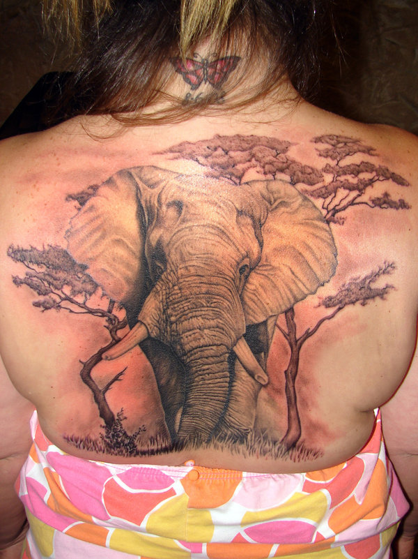 elephant tattoo finished by asuss061 30 Incredible Tattoo Designs