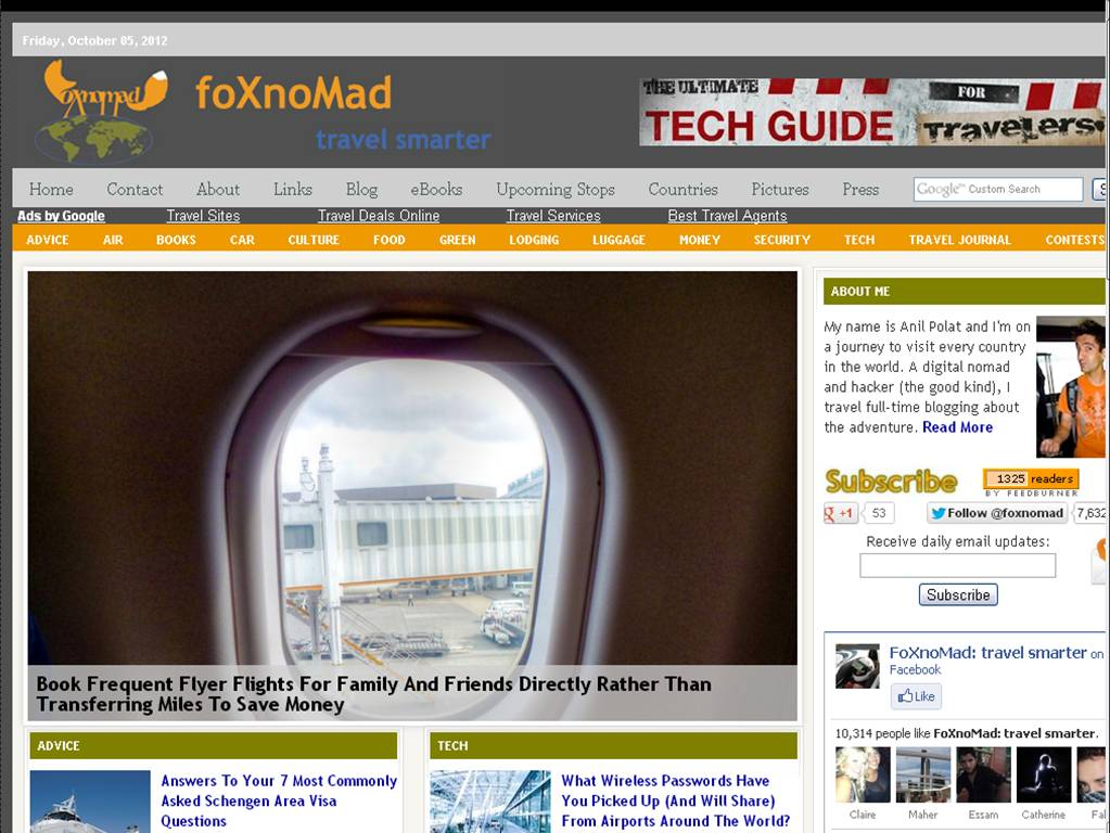 foxnomad The Most Innovative Travel Sites
