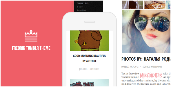 fredrik preview one   large preview1 55 Elegant and Customizable Tumblr Themes