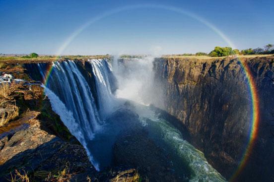 Full Rainbow Over The Victoria Falls