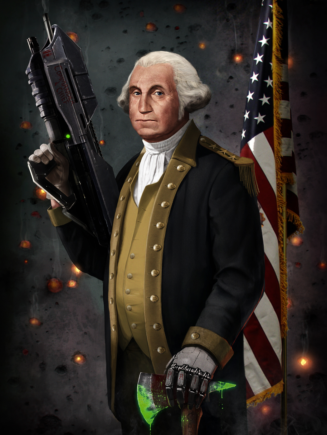 george washington the original master chief by sharpwriter d5ebrn61 Creative Political Illustrations by Jason Heuser