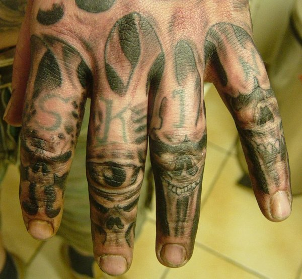 Hand Horror Tattoo