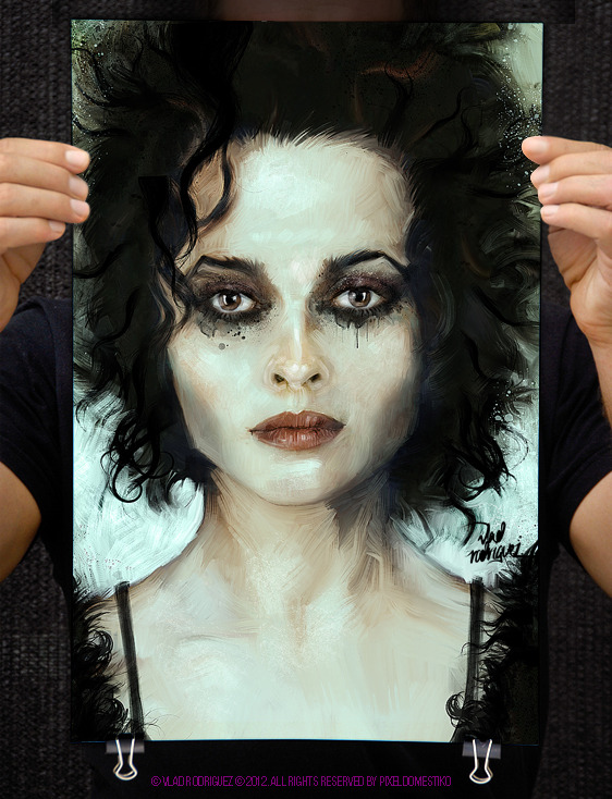helena bonham vlad rodriguez1 Pop Art Paintings by Vlad Rodriguez