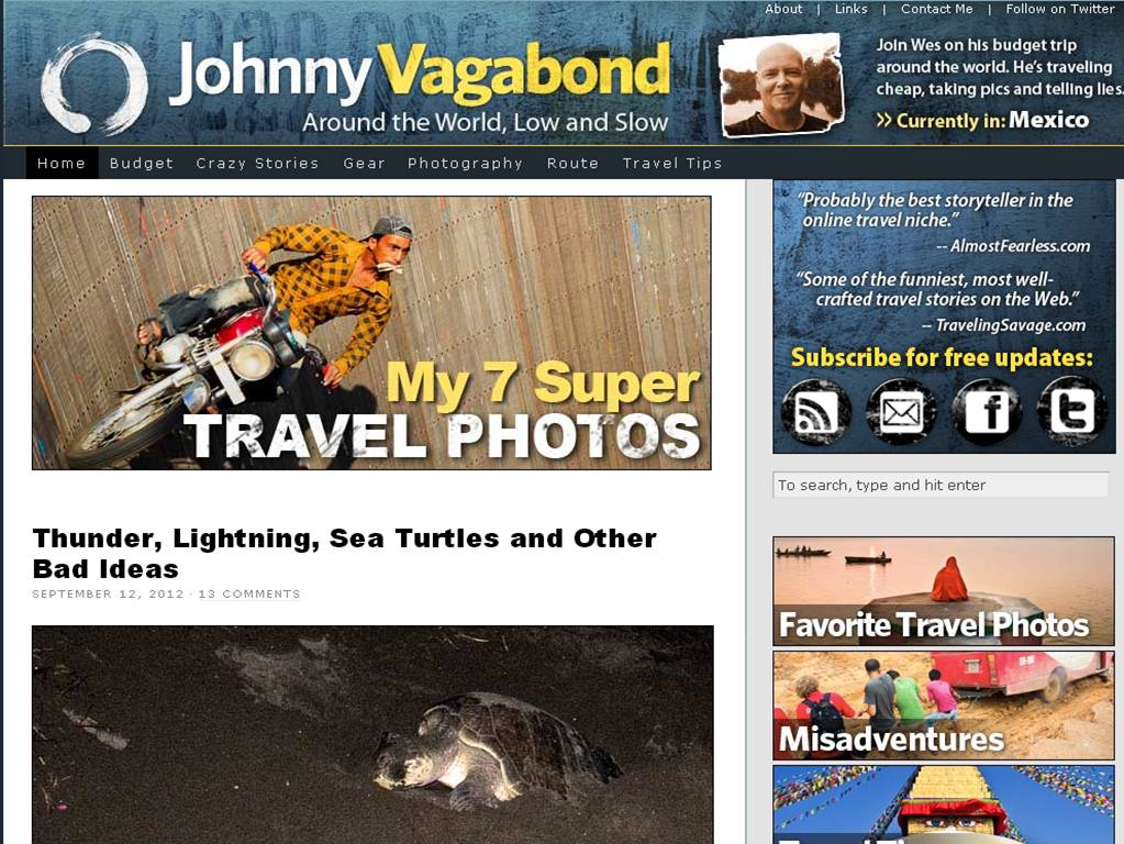 johnny vagabond The Most Innovative Travel Sites
