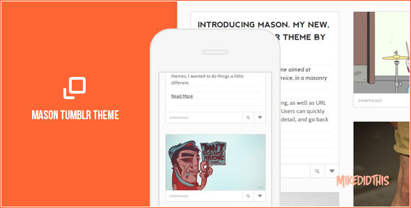 mason preview   large preview1 55 Elegant and Customizable Tumblr Themes