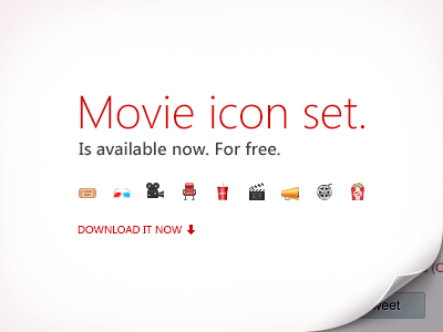 movie icon set dribbble1 30 High Quality Free Psd Downloads #4