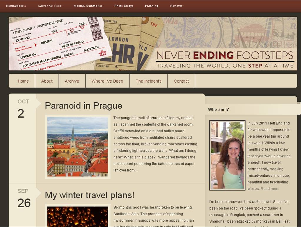 neverending footsteps The Most Innovative Travel Sites