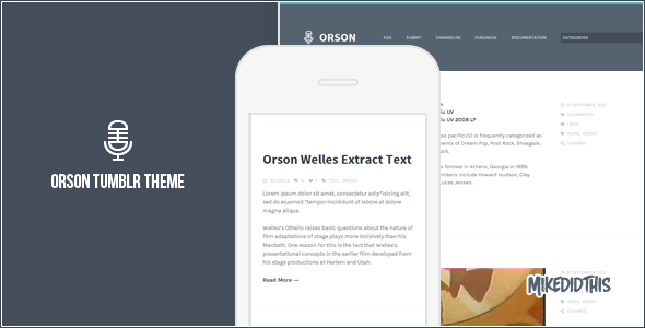 orson preview one   large preview1 30 Beautiful Premium Tumblr Themes