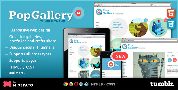 popgallery tumblrtheme preview v1 6   large preview1 55 Elegant and Customizable Tumblr Themes