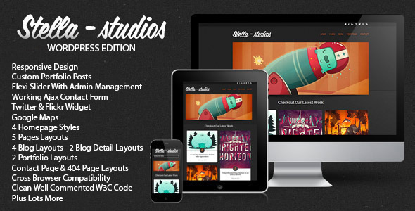 stella   large preview1 45 Creative Premium WordPress Themes