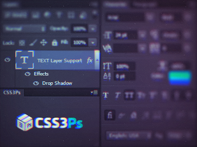 CSS3Ps Text Layers Support by Alexander Stotskii