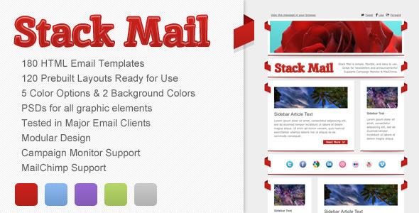 00 preview   large preview1 45 Email Templates For Your Marketing Campaign
