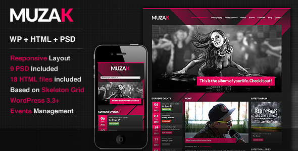 00 preview   large preview1 20 Premium Entertainment Wordpress Themes