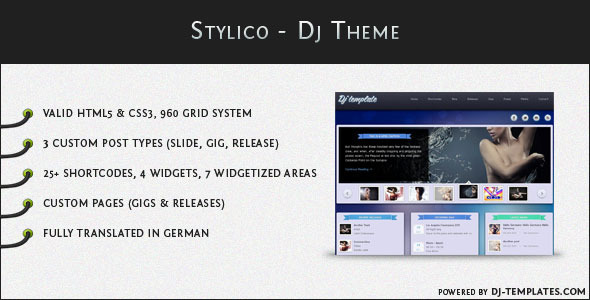 01 featured   large preview1 20 Premium Entertainment Wordpress Themes