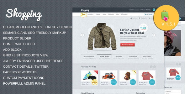 01 home   large preview   large preview1 Clean and Modern E commerce Prestashop Themes