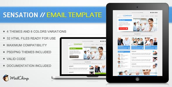 Sensation Email Template
