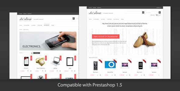 01 lastore ps preview   large preview1 Clean and Modern E commerce Prestashop Themes