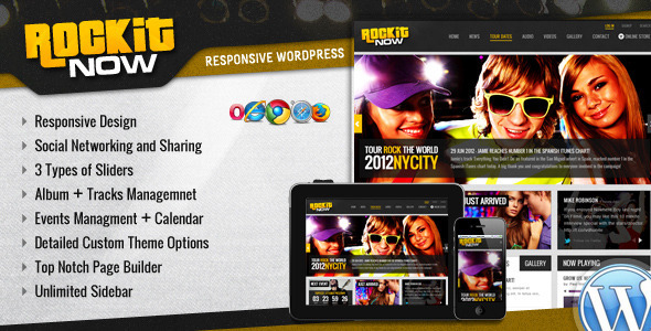01 mainthumbnail   large preview1 20 Premium Entertainment Wordpress Themes