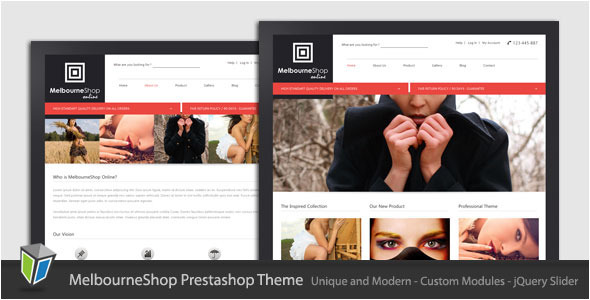 01 melbourneshop ps preview   large preview1 Clean and Modern E commerce Prestashop Themes