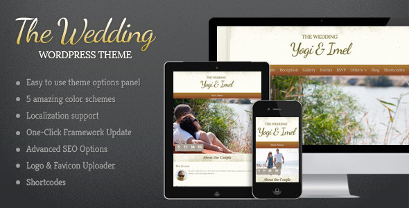 01 the wedding   large preview1 20 Premium Entertainment Wordpress Themes
