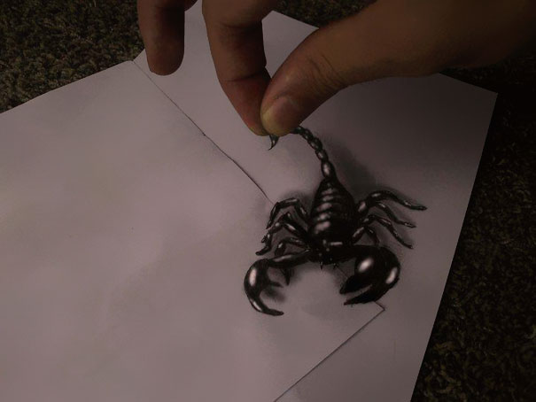 3d optical illusions jjk airbrush 10 3D Pencil Drawings by Ramon Bruin