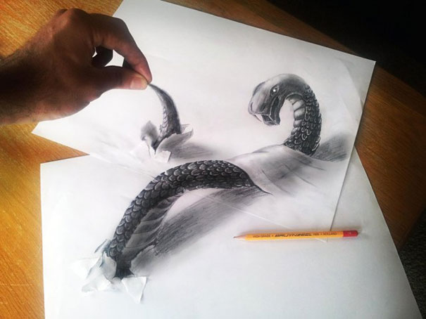 3d optical illusions jjk airbrush 11 3D Pencil Drawings by Ramon Bruin